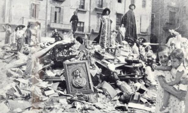guerra-civil-espanhola-igreja-destruída