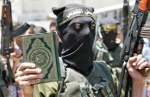 Jihadista com Corão
