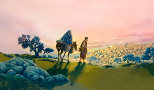 Maria e José a Caminho de Belém