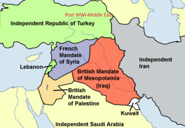 Post-WWI Middle East