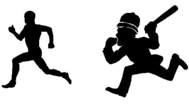 ladrão fugindo