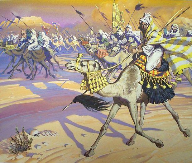 Camelos de guerra desenho